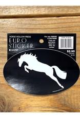 Horse Hollow Press White Jumper/Blk Back Sticker