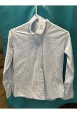 Devon Aire women's Show Shirt LS LIght Blue Size32R