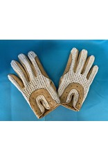 Tan/Knit Riding Gloves Sz 6