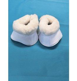 Bell Boots White Fleece Med (New)