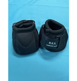 RES Bell Boots Black Med w/replaceable Velcro