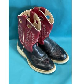 Old West Boots Black & Red C2