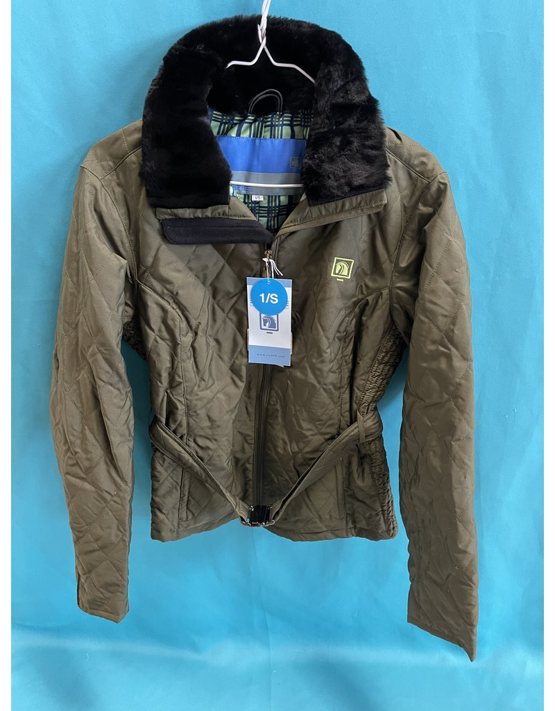 Romfh Europa Quilted Jacket Olive & Apple Green Small