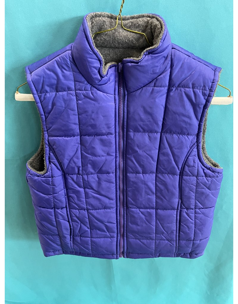 Quilted Purple Reversible Vest Youth Large