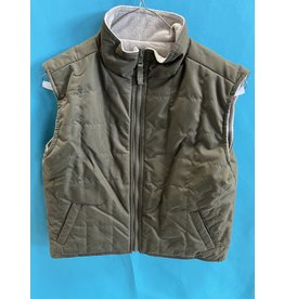 Quilted Olive Reversible Vest Youth Small