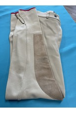 Equestrian England Breeches Tan w/Red Trim 26R