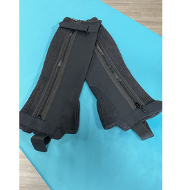 Black Synthetic Half Chaps Small