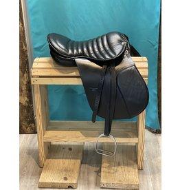 English All Purpose Saddle Black  w/ Bridle, Reins, Stirrups, Leathers & Girth