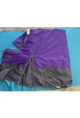 "66"" Medium Weight Blanket Purple/Gray"