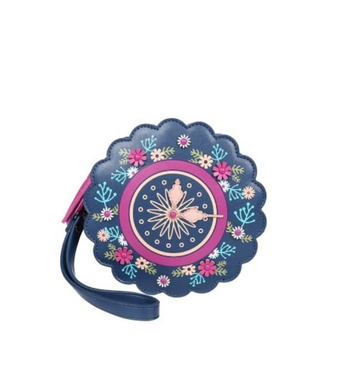 Vendula VENDULA: Cuckoo Clock Round Wristlet Bag
