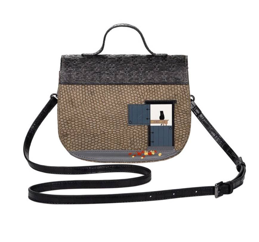 Vendula VENDULA: Winter Cottage Mini Saddle Bag