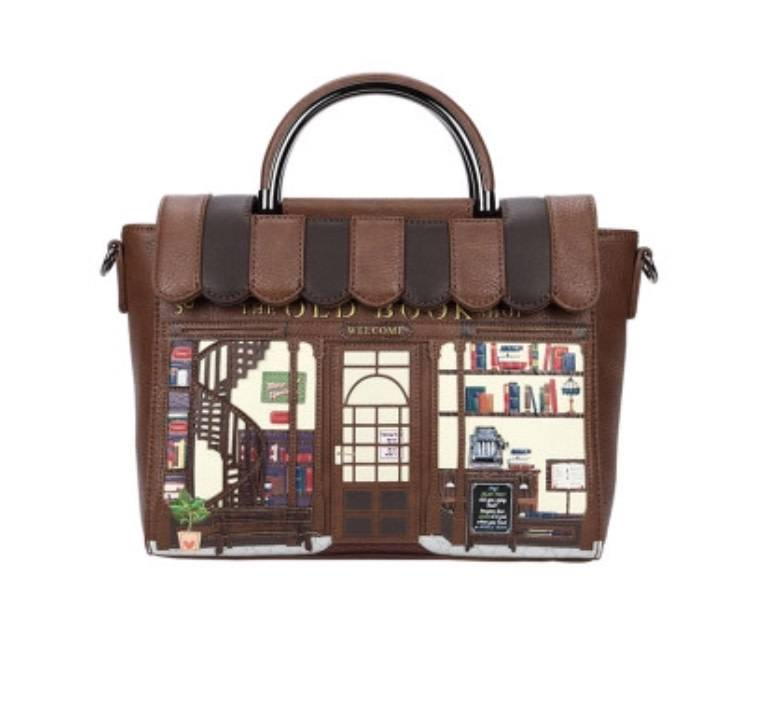 Vendula VENDULA: Old Book Shop  - Vanity Bag