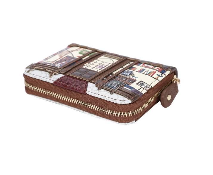 Vendula VENDULA: Old Book Shop  - Ziparound Wallet