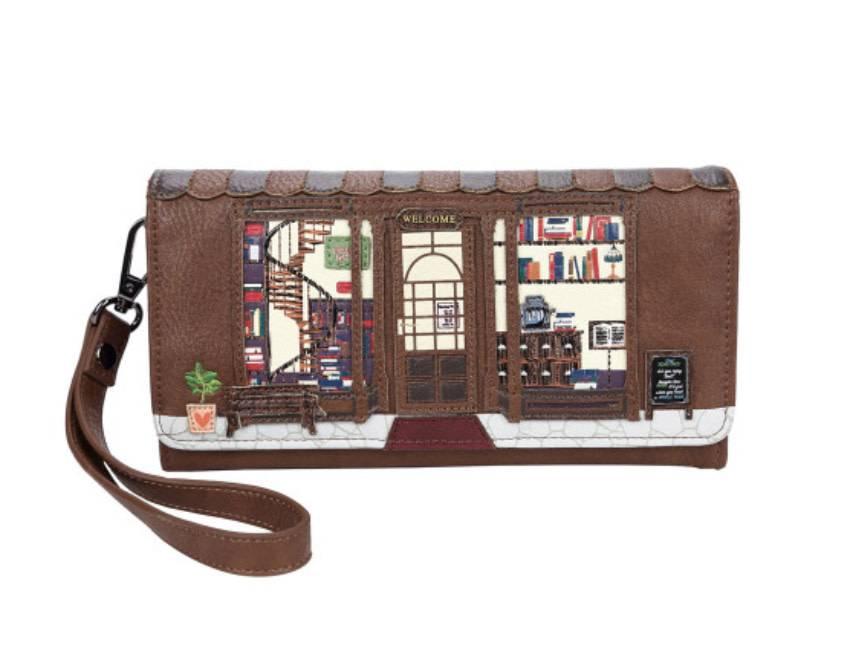 Vendula VENDULA: Old Book Shop - Flap Wallet