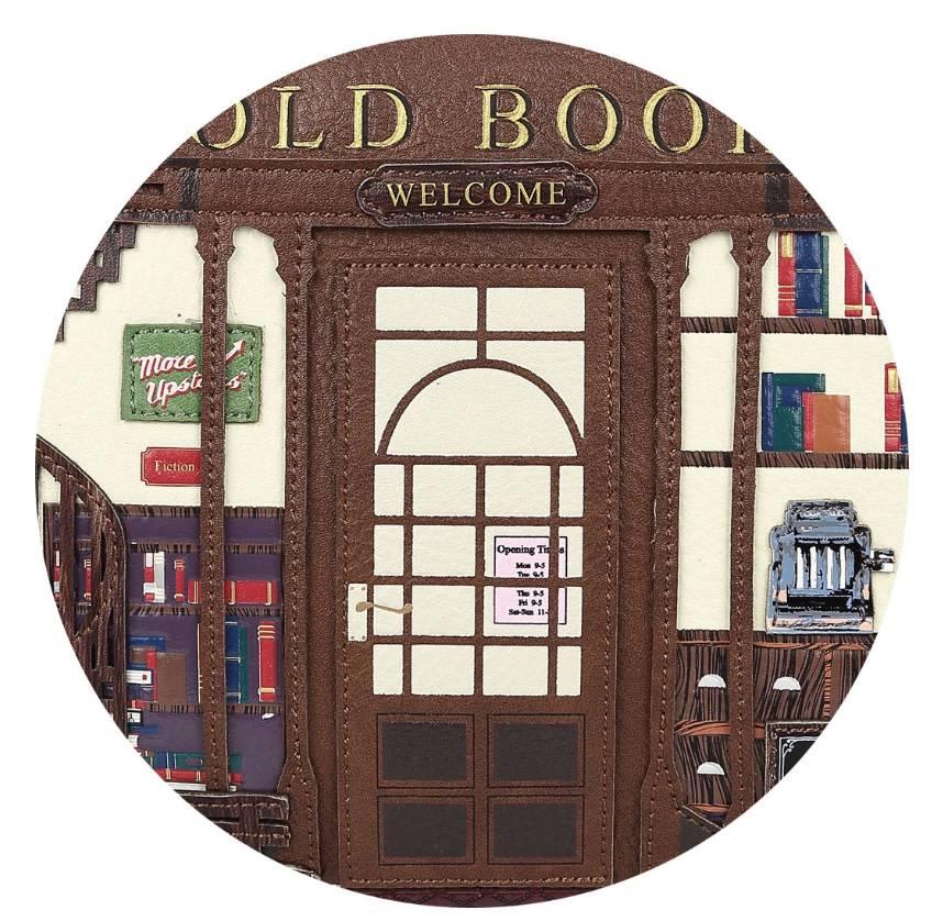 Vendula VENDULA: Old Book Shop Crossbody/Pouch Bag