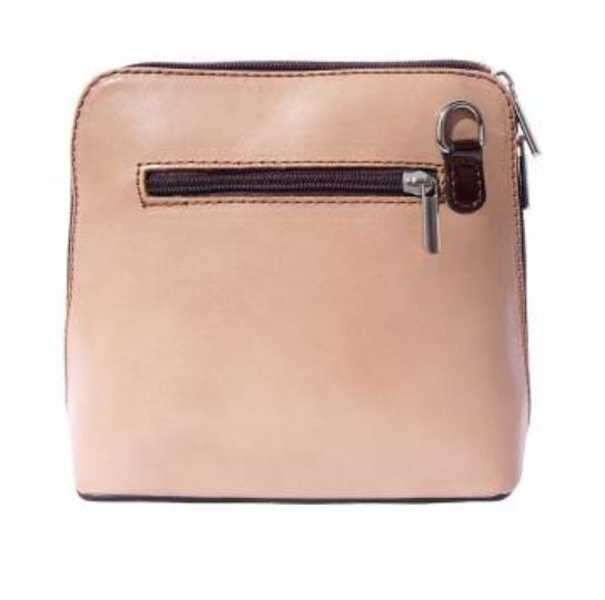 VinetteRose VRB: Lisa Marie - Crossbody - SM  (Light Taupe/Dark Brown)