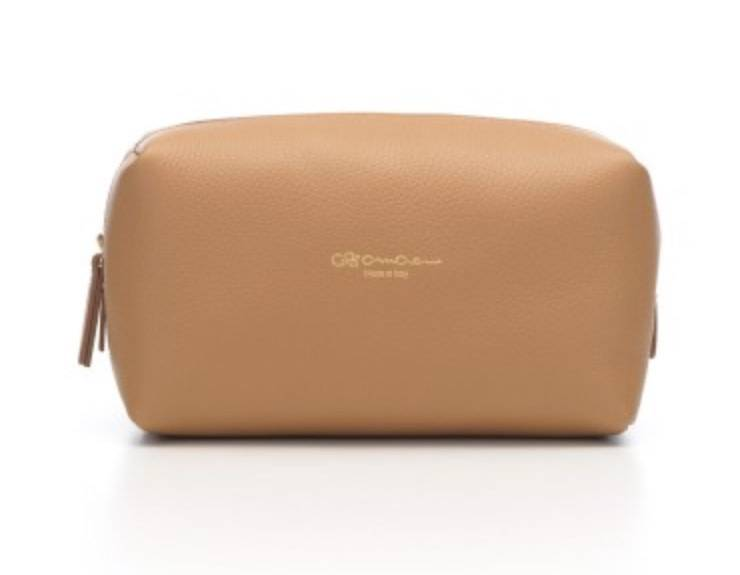 Cruciani CRUCIANI: Travel/Vanity Bag - (SM) - Almond