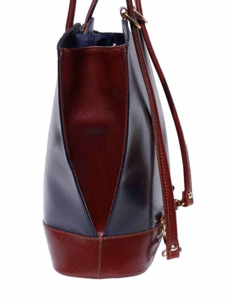 VinetteRose VRB: GINA - Convertible Backpack - Dark Blue/Brown