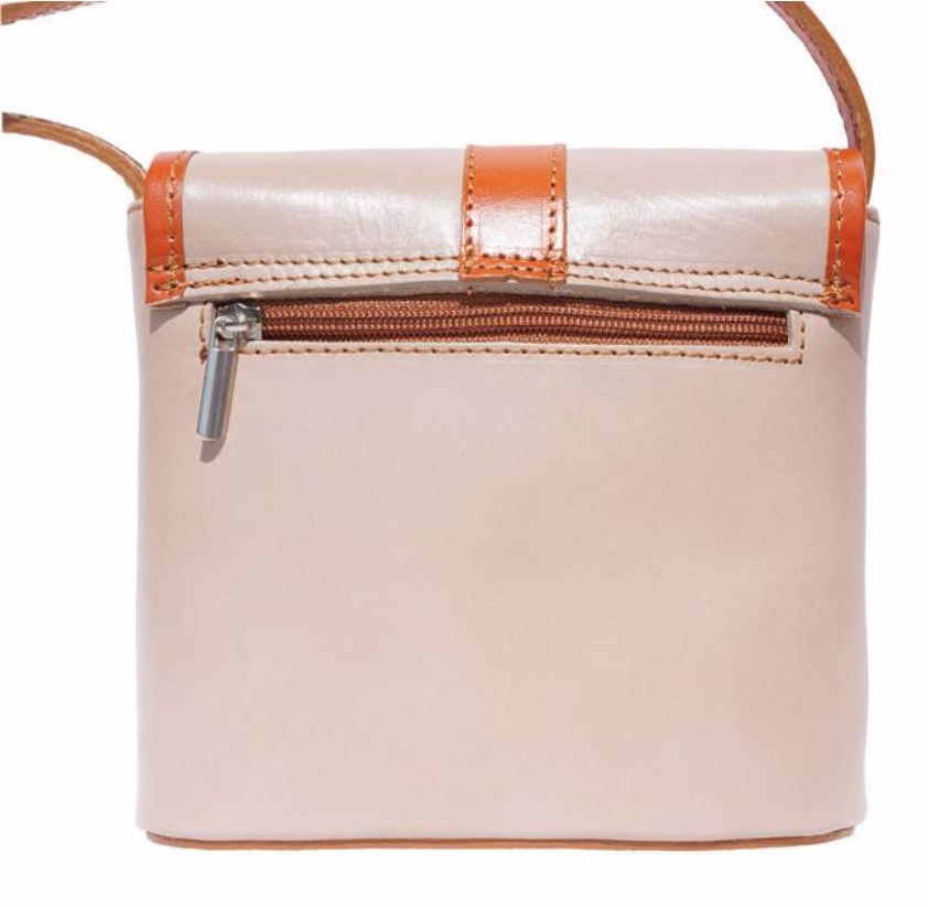 VinetteRose VRB: Ava Crossbody, Hard Leather Bag, Beige/Tan