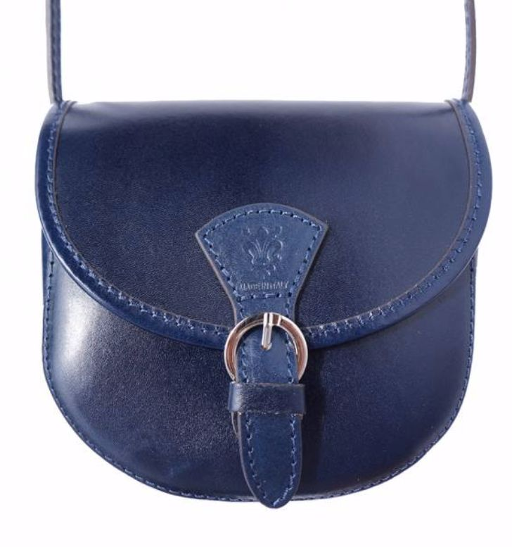 VinetteRose VRB: Amelia-Leather, Cross-body Bag, Navy