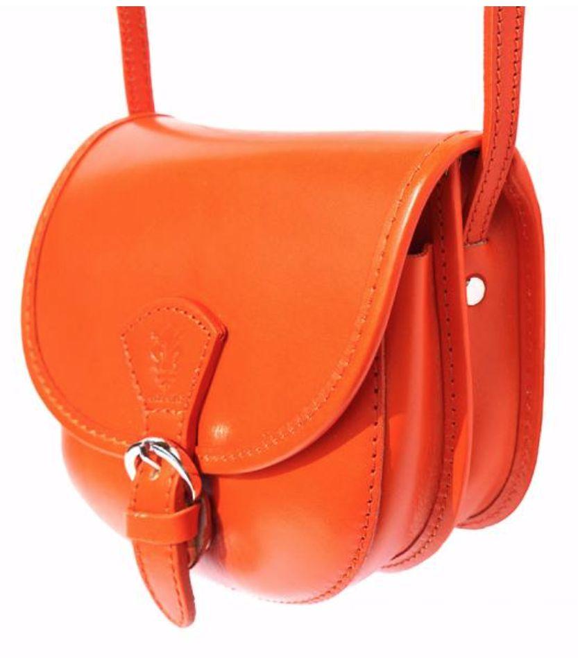 VinetteRose VRB: Amelia-Leather, Cross-body Bag, Arancione