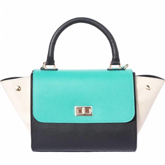 VinetteRose VRB: LIANNA-Convertible handbag-blk/tq/bg