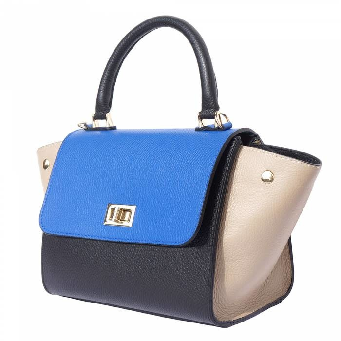 VinetteRose VRB: LIANNA-Convertible handbag-blk/blu/tp