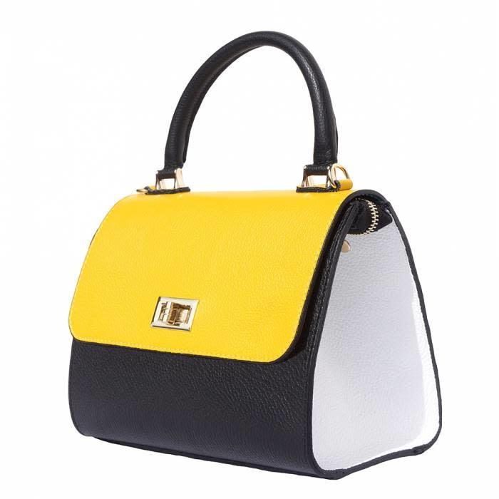 VinetteRose VRB: LIANNA-Convertible handbag-blk/yel/wht