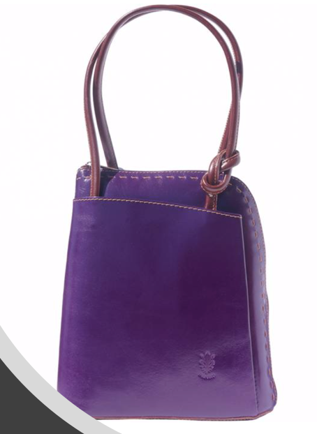 VinetteRose VRB: WINK, Conv. Backpack/Shoulder Bag - Purple