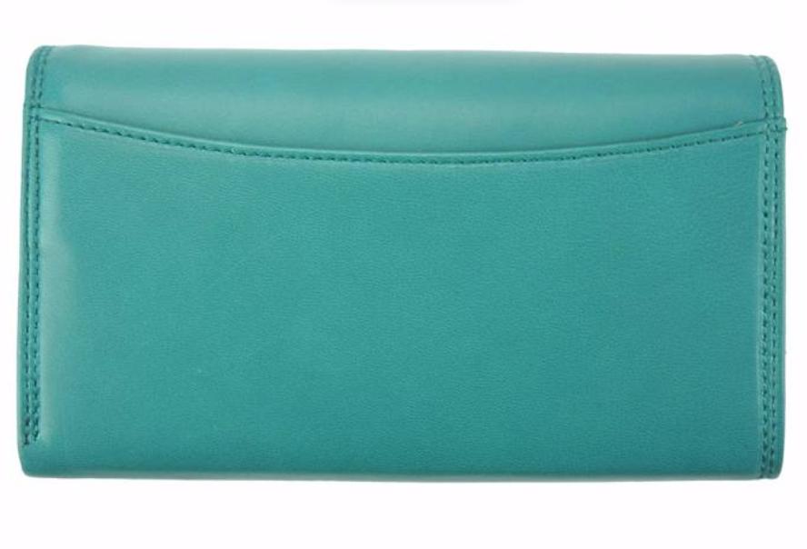 VinetteRose VRB: Turquoise clip wallet