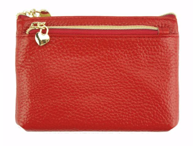 VRB: Leather Card Holder - RED