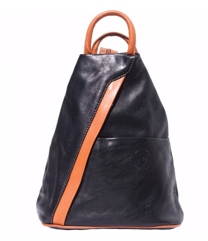 VinetteRose VRB: VIENNA Leather Backpack - BLK/BRN