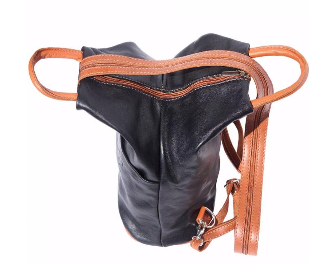VinetteRose VRB: VIENNA Leather Backpack - BLK/BRN