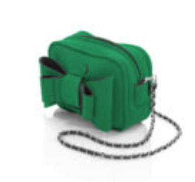 AP (Art Pelle) AP: Neoprene - Linea Shoulder Cherie w/ bow (SMALL) Green