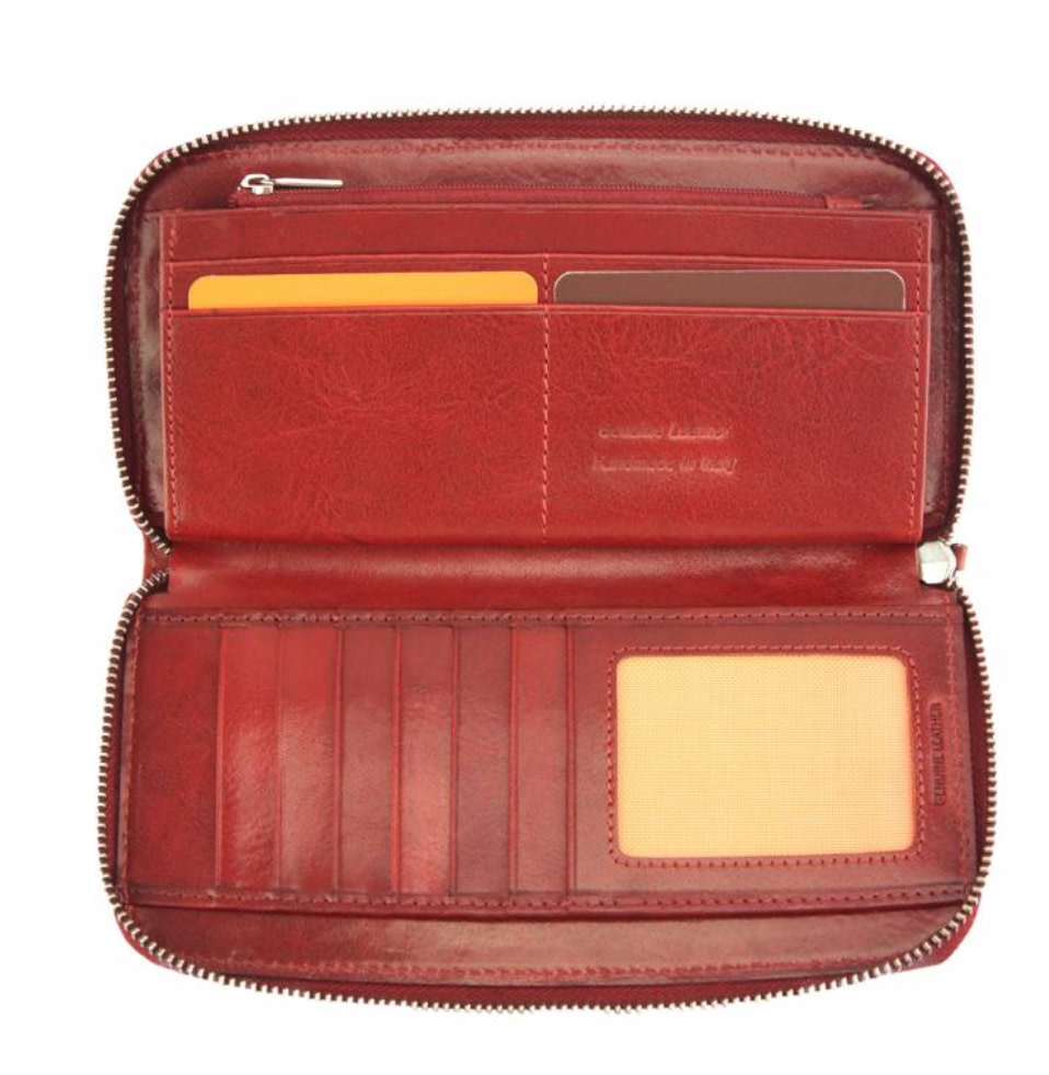 ZARA  ziparound wallet - red