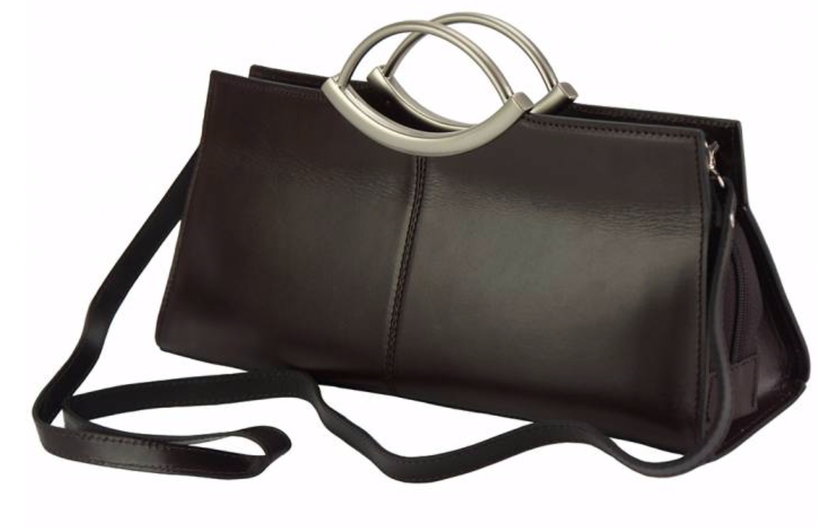 VinetteRose VRB: FRANCES - Leather Handbag - Dark Brown
