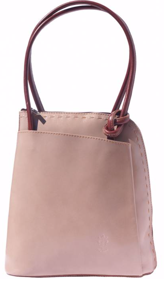 VinetteRose VRB: WINK, Conv. Backpack/Shoulder Bag - Taupe