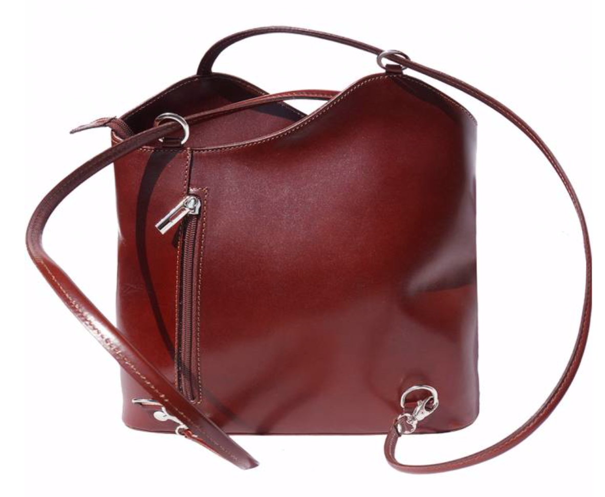 VinetteRose VRB: ILARIA - Dark Brown Convertible Leather Bag