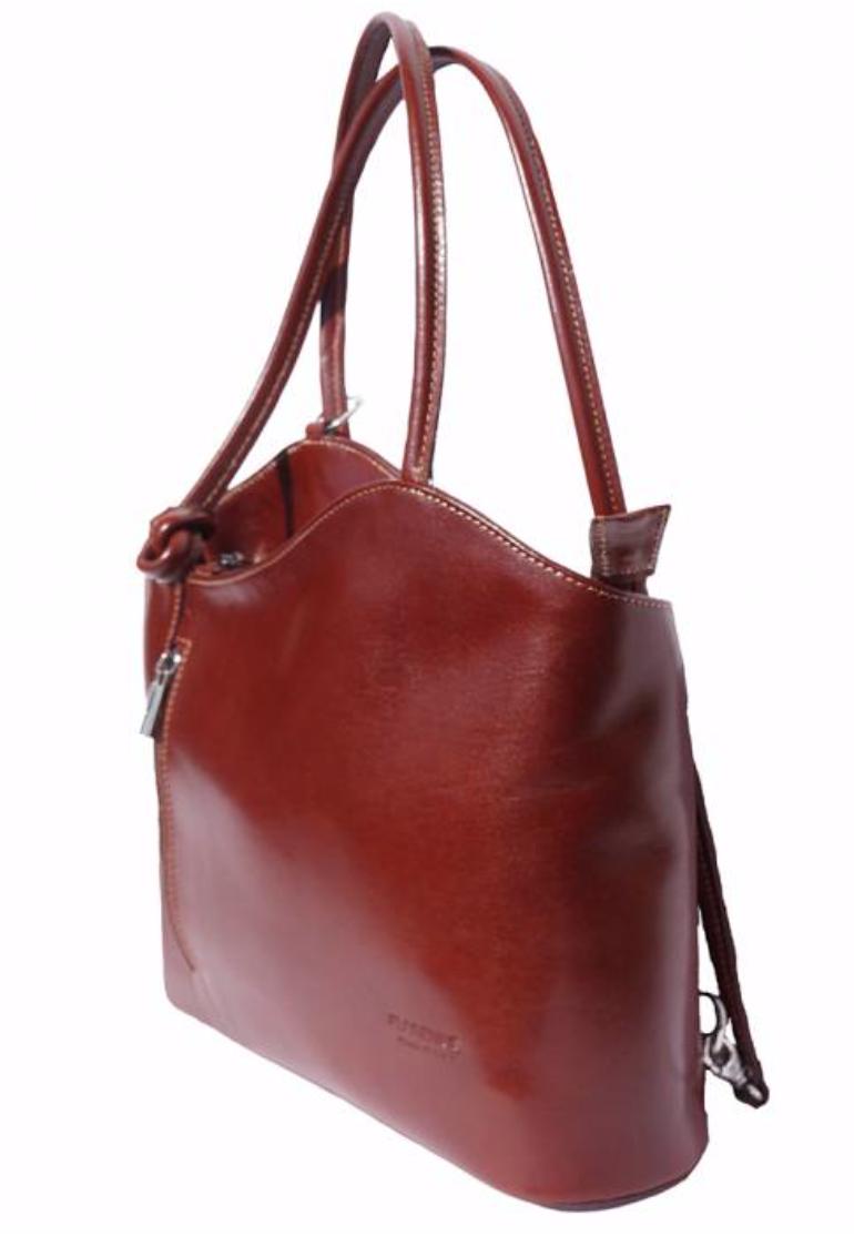 VinetteRose VRB: ILARIA - Dark Brown Convertible Leather Bag