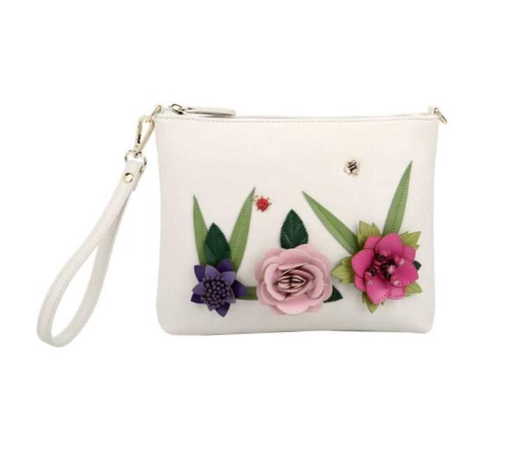Vendula English Garden Crossbody/Wristlet/Pouch Bag