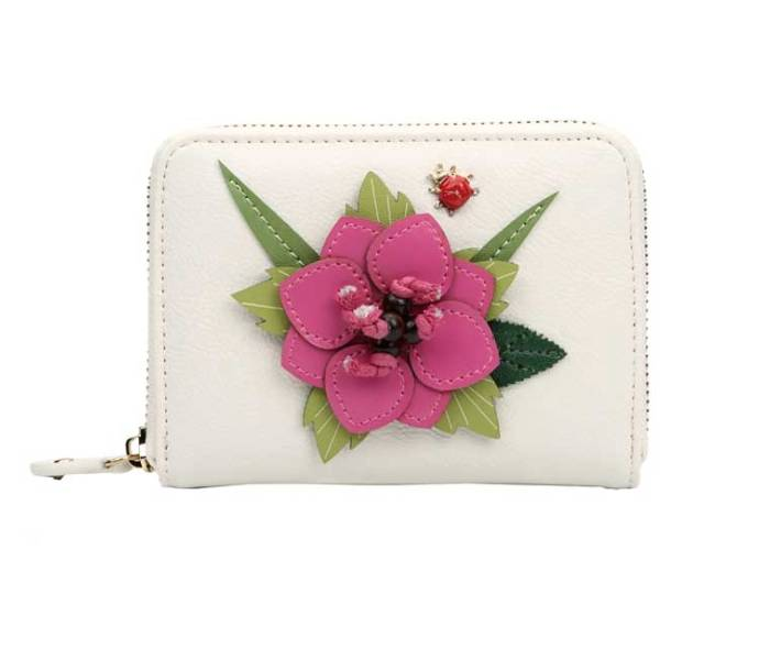 Vendula English Garden Medium Ziparound Wallet