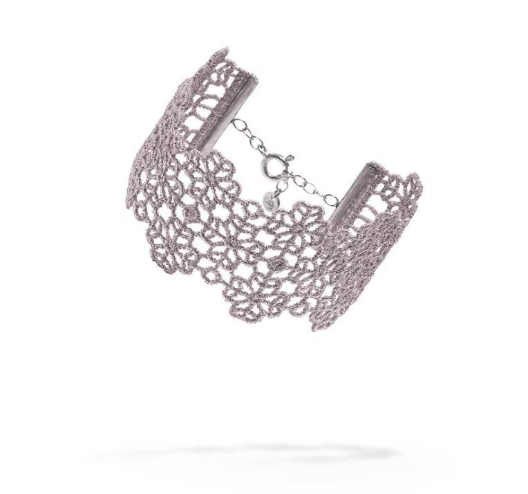 Cruciani Gray Clover Lovers Bracelet