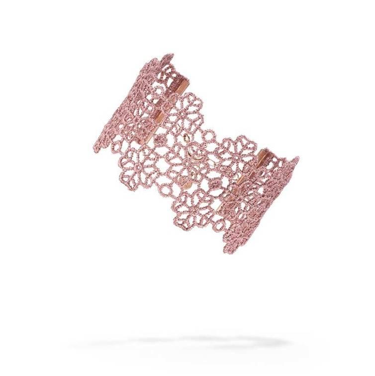 Cruciani Antique Pink Clover Lovers Bracelet