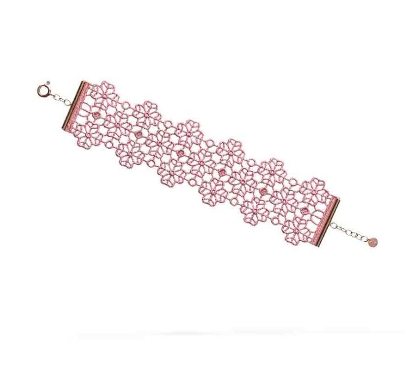 Cruciani Antique Pink Clover Lovers Bracelet