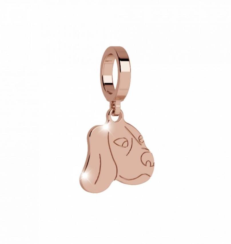 Rebecca Dog Charm, Rose Gold