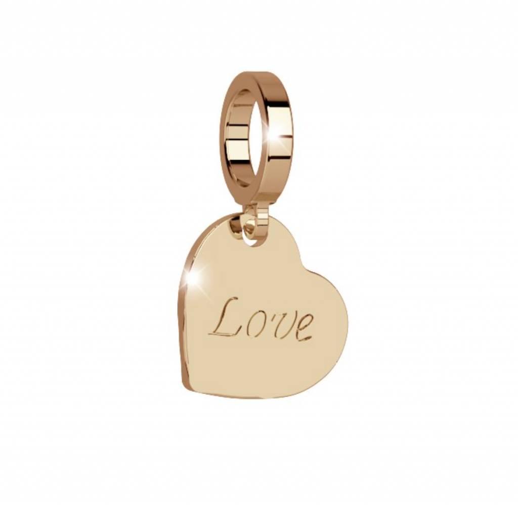 "Rebecca Heart ""Love"" Charm, Gold"