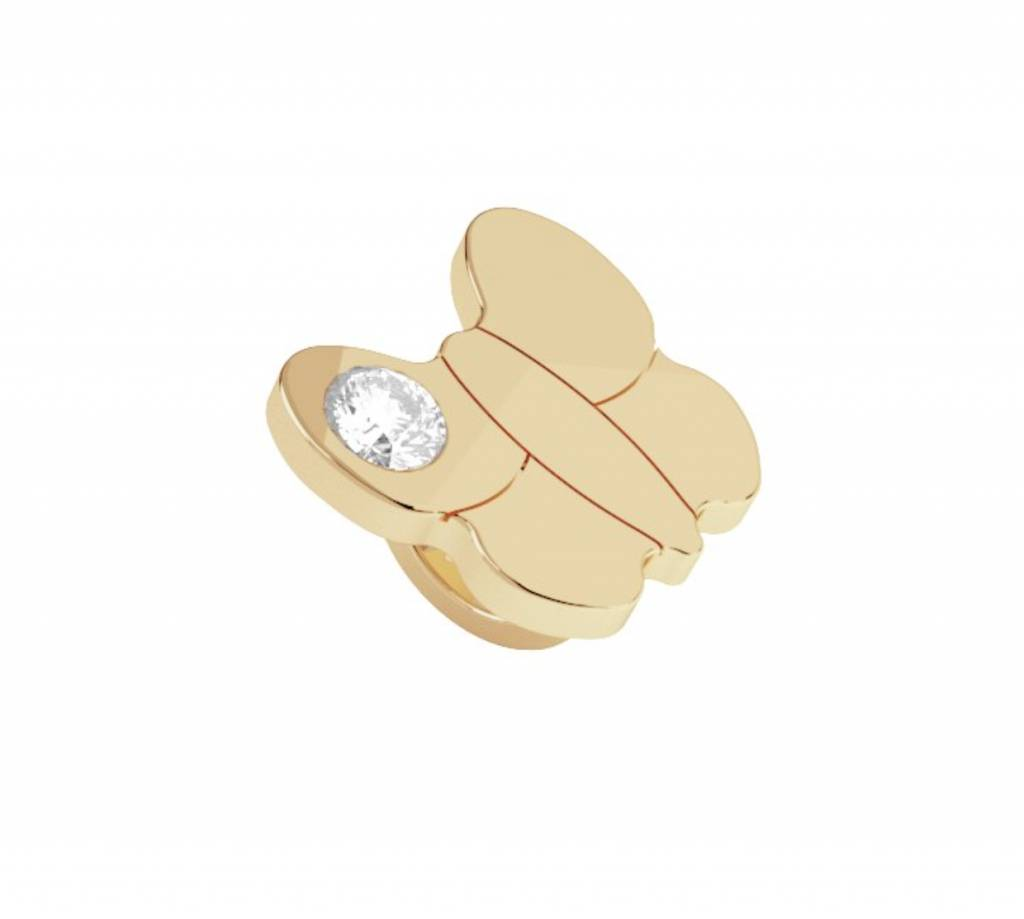 Rebecca Butterfly Ring Style Charm, Yellow Gold