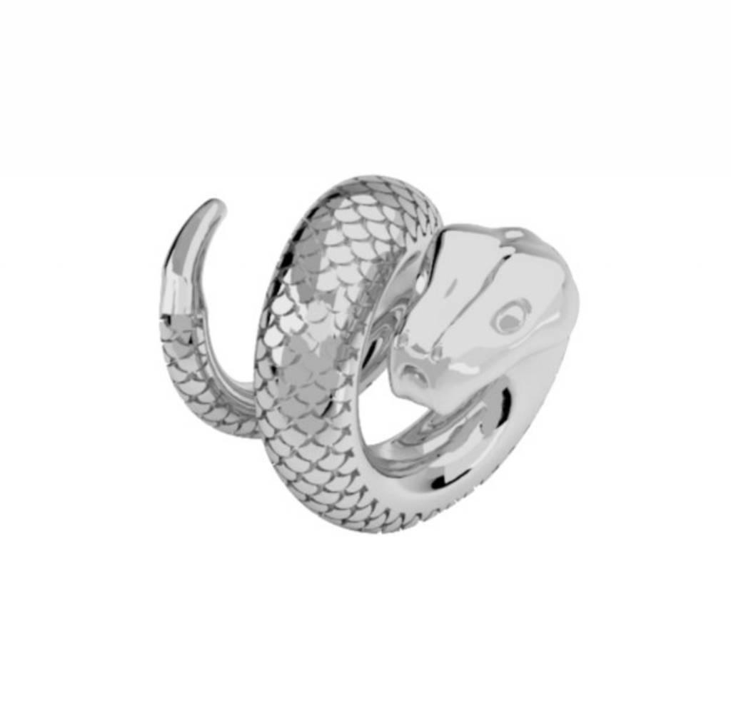 Rebecca Snake Charm, Silver