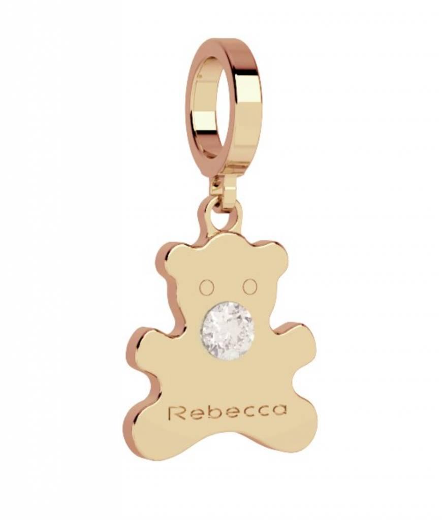 Rebecca Teddy Bear Charm, Gold