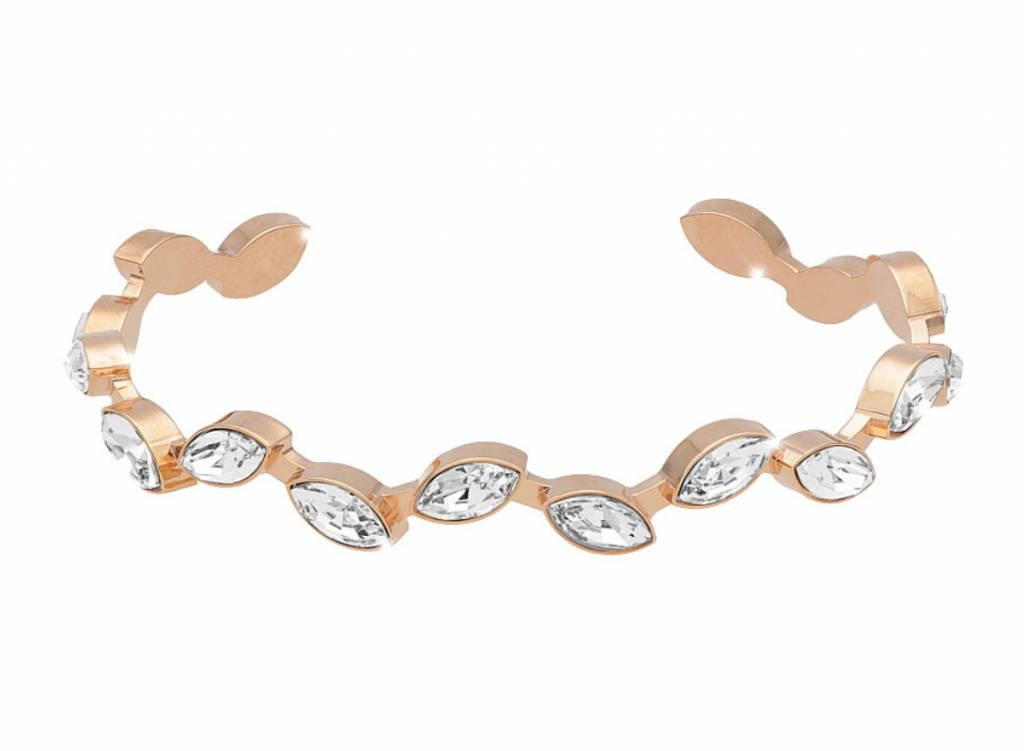 Rebecca Swarovski Crystal Gold Cuff